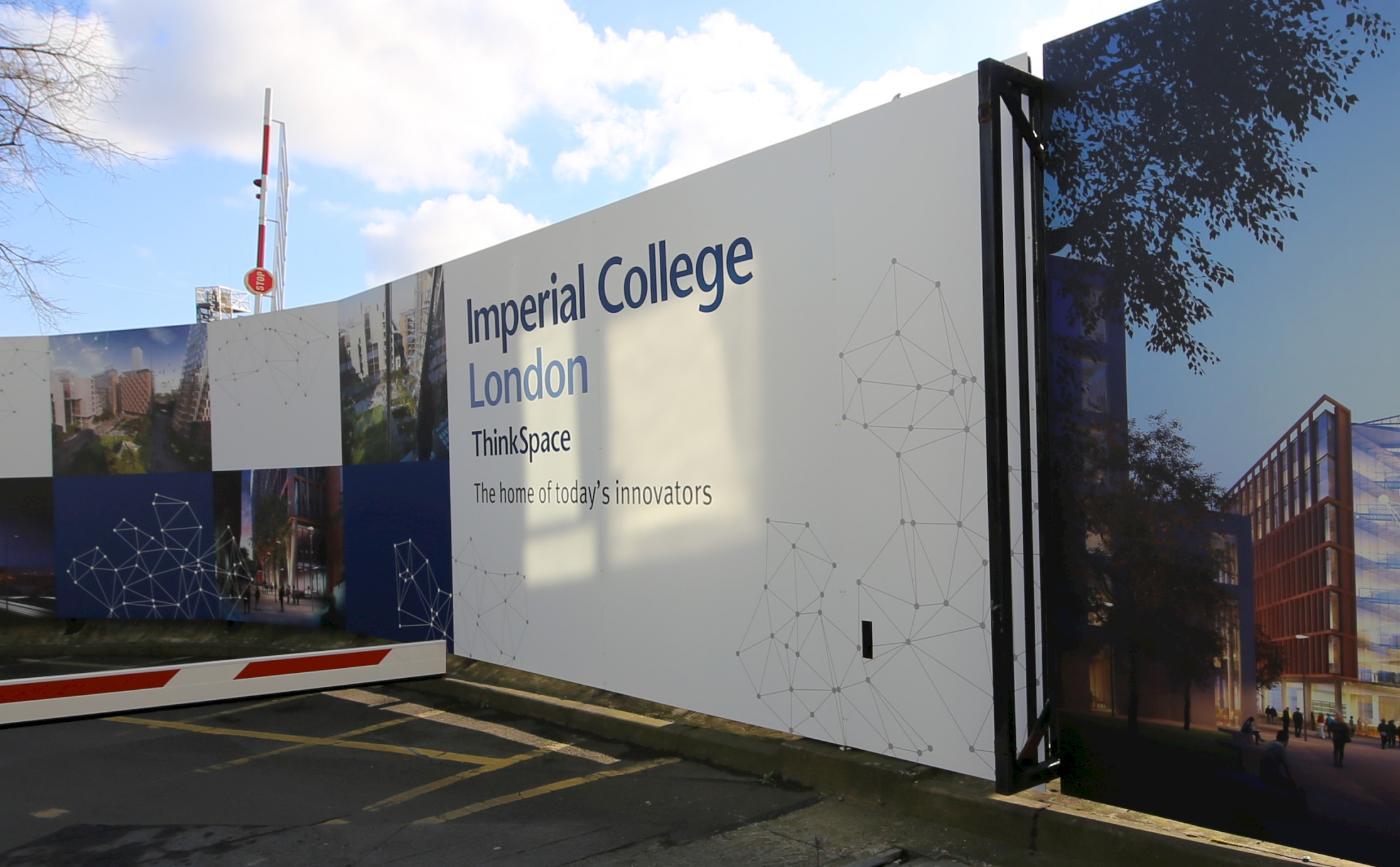 Imperial College London hoarding